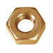 HEX NUT SOLID BRASS