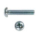 PHILLIP ROUND HEAD MACHINE SCREW ZINC PLATED