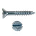 SLOTTED FLAT HEAD WOOD SCREW ZINC PLATED
