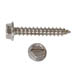 SLOTTED HEX WASHER AB TAPPING SCREW STAINLESS STEEL
