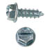 SLOTTED HEX WASHER AB TAPPING SCREW ZINC PLATED