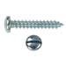 SLOTTED PAN HEAD AB TAPPING SCREW ZINC PLATED