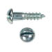SLOTTED ROUND HEAD WOOD SCREW ZINC PLATED