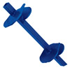SOLID SQUARE HUB TWIN HELIX POWER DRIVEN ANCHOR