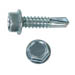 UNSLOTTED HEX WASHER TEK SCREW ZINC PLATED
