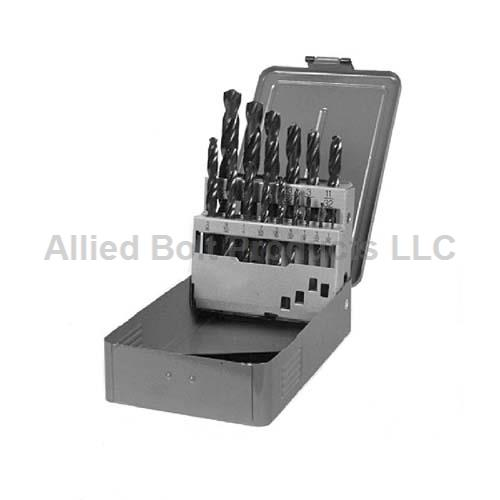 "13 PIECE HIGH SPEED STEEL DRILL BIT SET 1/16""-1/4"""